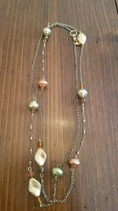 Earth toned bead necklace